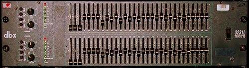 PA-anläggning grafisk equaliser