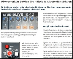 Mixerbord Basic Steg 2 Lektion 2