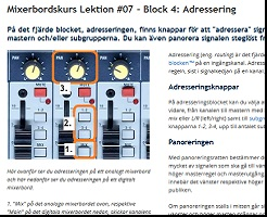 Mixerbord Basic Steg 2 Lektion 7