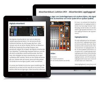 Mixerbord Basic Ljudteknikern Webbkurs