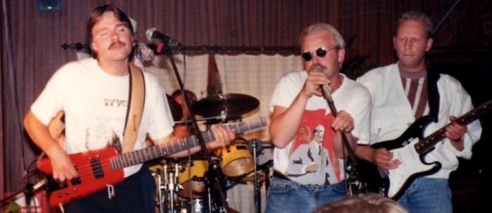 Hans Nicklasson i bluesrockbandet Kal Kon 1989.