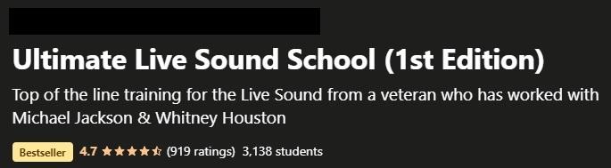 Webbkurs - Ultimate Live Sound School